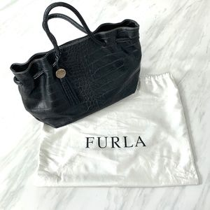 Furla Genuine Leather Bag in Black